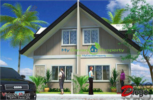 Diego House Model, The Prestige Subdivision, Affordable Housing, Low Cost Housing, Davao Subdivisions, Buhangin, Cheap Housing, Economical Housing, low-price Housing, Inexpensive Housing, Socialized Housing, Duplex, Cabantian, Davao City