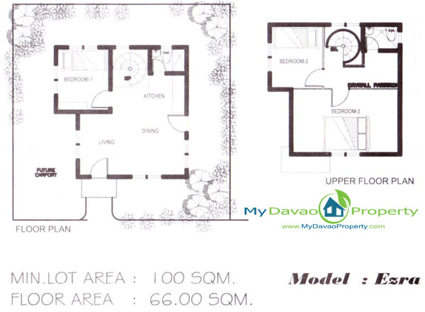 The Prestige Subdivision Cabantian Davao City Ezra Model Two - Low Cost Housing Floor Plans