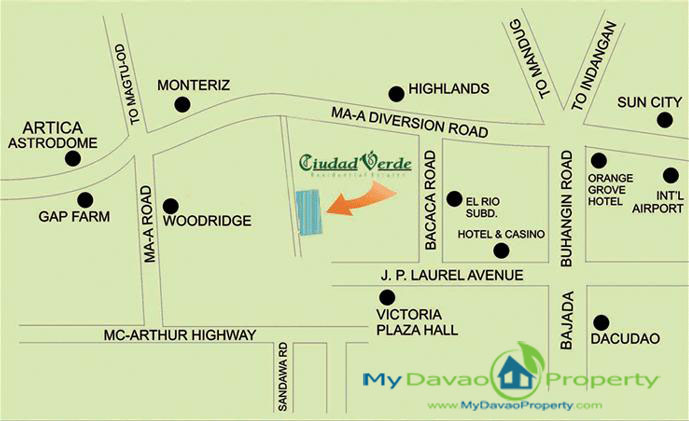 Ciudad Verde Davao Vicinity Map, MyDavaoProperty