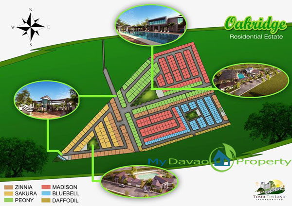 Vicinity Map, Oakridge Residential Estate Indangan, Mid Cost Housing, Davao Property, Davao Properties, Davao Houses, Davao Subdivision, Real estate in Davao City, Davao City House and Lot, My Davao Property, mydavaoproperty.com