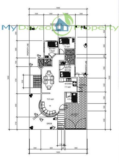 Oakridge Residential Estate Indangan, Mid Cost Housing, Zinnia Model House, Bungalow, Davao Property, Davao Properties, Davao Houses, Davao Subdivision, Real estate in Davao City, Davao City House and Lot, My Davao Property, mydavaoproperty.com, Floor Plan