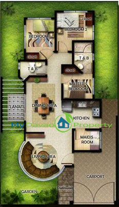 Oakridge Residential Estate Indangan, Mid Cost Housing, Zinnia Model House, Bungalow, Davao Property, Davao Properties, Davao Houses, Davao Subdivision, Real estate in Davao City, Davao City House and Lot, My Davao Property, mydavaoproperty.com, Floor Plan
