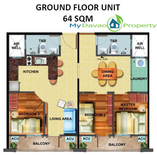 Arezzo Davao, Arezzo Place Davao, Phinma Properties, Davao Condominiums, Davao City Property, Condominiums for Sale in Davao City, Condominiums thru Pag-ibig, Affordable Condominium in Davao City, Ground Floor Unit, Adjoined Unit