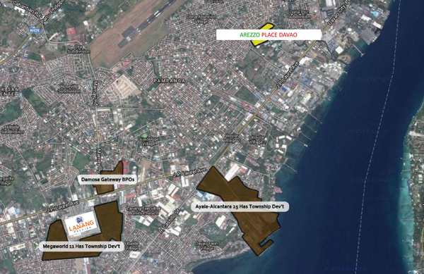 Arezzo Davao, Arezzo Place Davao, Phinma Properties, Davao Condominiums, Davao City Property, Condominiums for Sale in Davao City, Condominiums thru Pag-ibig, Affordable Condominium in Davao City, Location, Vicinity Map