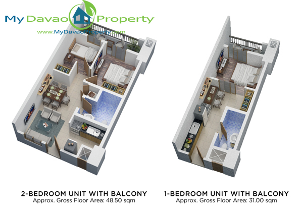 Davao Condominiums, Verdon Parc, Davao Properties, Davao city Property. Mydavaoproperty.com, Davao Estate, Davao properties, Unit Floor Plans