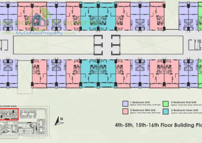 4th-5th, 15th-16th Floor Building Plan