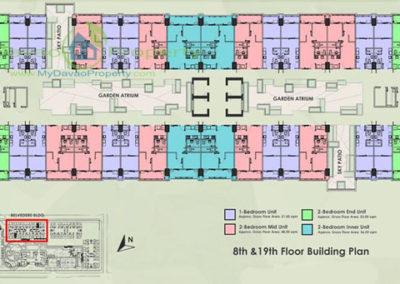 8th and 19th Floor Building Plan