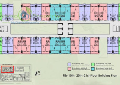 9th-10th, 20th-21st Floor Building Plan