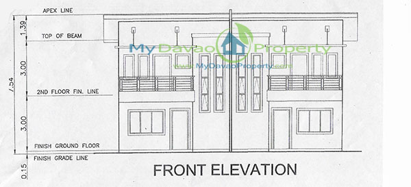 Front Elevation Cost : Mid cost townhouse the wisdom subdivision catalunan