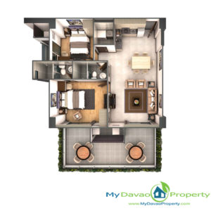 Legacy Leisure Residences, Davao Condominium, Maa Road, Davao City, MyDavaoProperty, My Davao Property, Mixed-Use Condominium, 2 Bedroom A