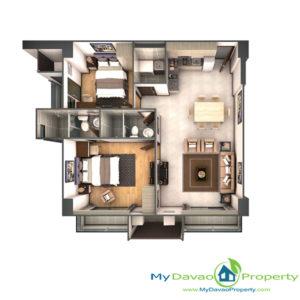Legacy Leisure Residences, Davao Condominium, Maa Road, Davao City, MyDavaoProperty, My Davao Property, Mixed-Use Condominium, 2 Bedroom B