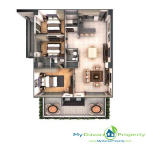 Legacy Leisure Residences, Davao Condominium, Maa Road, Davao City, MyDavaoProperty, My Davao Property, Mixed-Use Condominium, 3 Bedroom